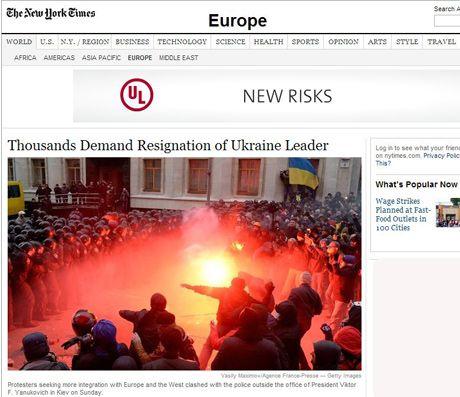 Мировые СМИ: Янукович столкнулся с протестами, которых не ожидал