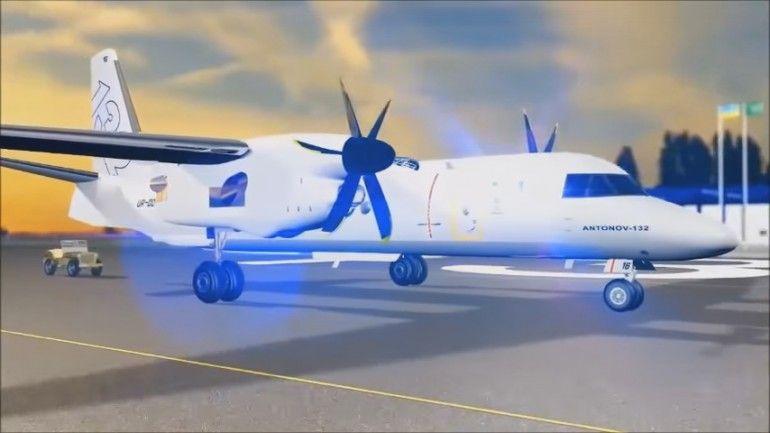 Презентация украинского транспортного самолета Ан-132