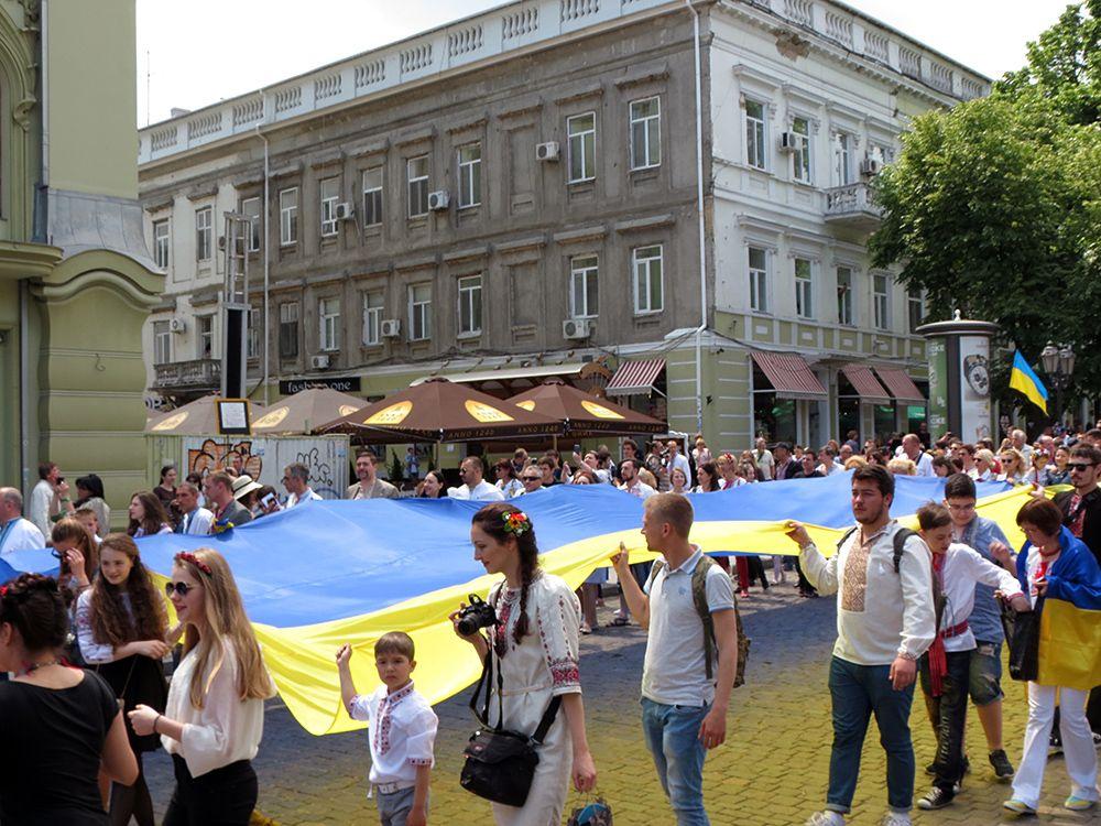 Мегамарш у вышиванках, Одесса 21 мая