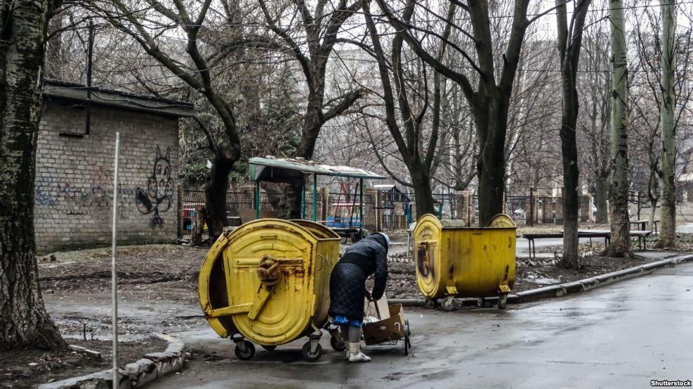 Старики на оккупированной части Донбасса