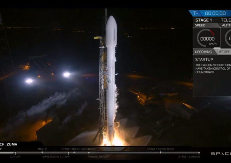 SpaceX запустила в космос секретний супутник Zuma